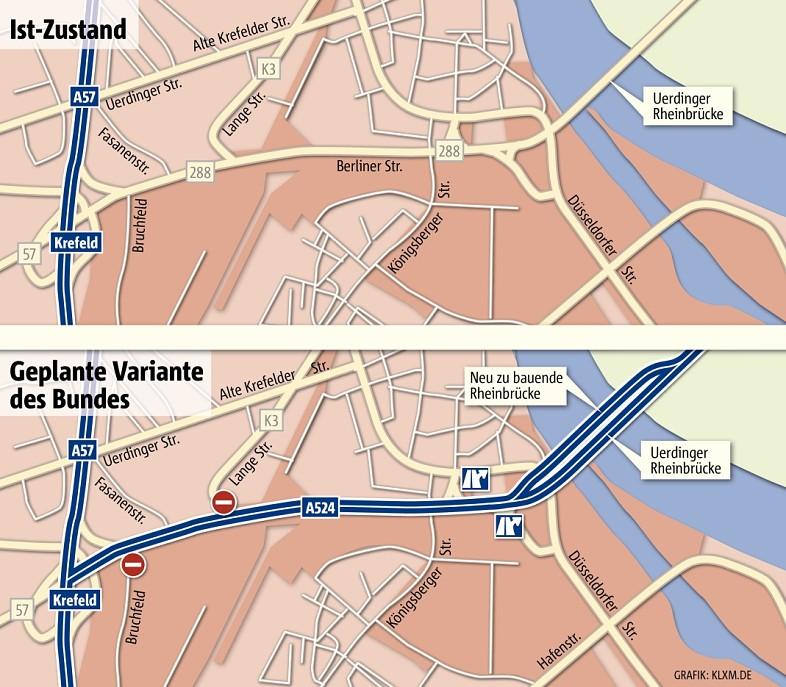 Planung Uerdinger Brücke
