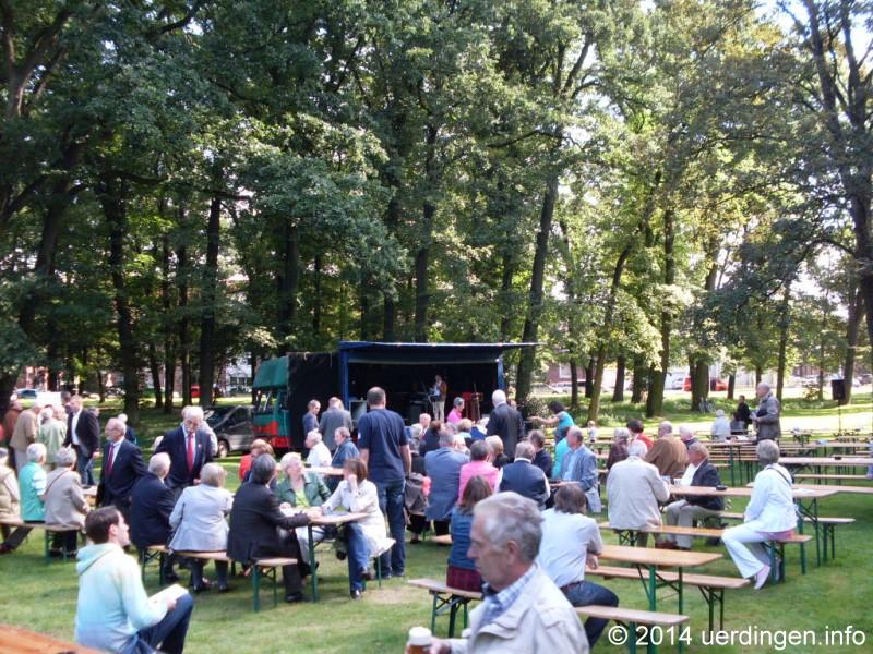 Jubiläumsfest Stadparkerweiterung Bühne