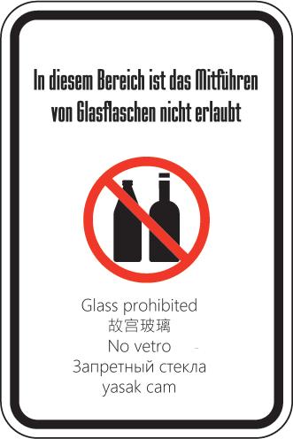 Glasverbotschild
