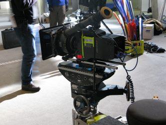 Kamera am Set